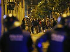 Los Mossos desalojan la 'sucursal del banco expropiado' de Gràcia