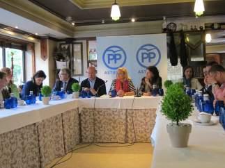 Reunión de campaña del PP de Asturias