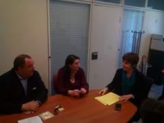 Reunión del PP con la plataforma que pide la retirada del impuesto de Sucesiones