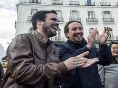 Iglesias y Garzón compartirán mitin en Madrid, Valencia, Cataluña y Andalucía