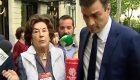 """Una voluntaria, a Sánchez: """"No das a Cáritas y luego quieres que te voten"""""""