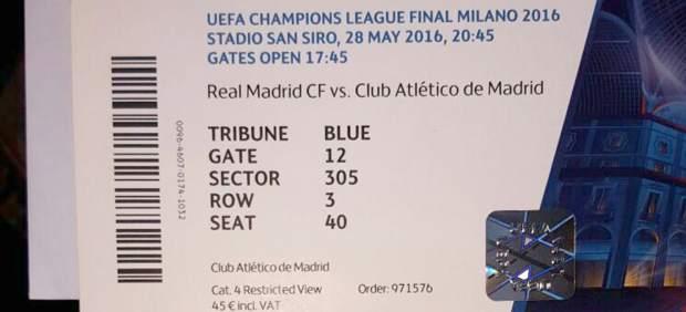 """Una entrada en la reventa para la final de la Champions: """"No por menos de 1.000 euros"""""""