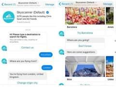 Skyscanner te busca vuelos baratos si le preguntas por Facebook Messenger