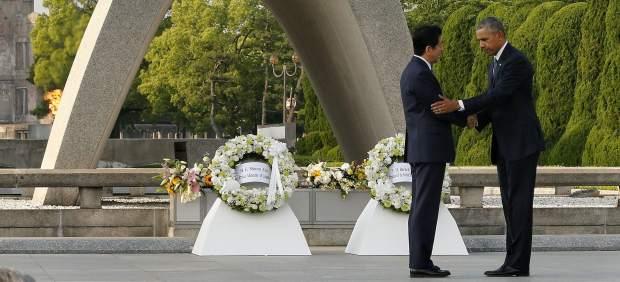 """Obama en el parque memorial de Hiroshima: """"Continuemos sin armas nucleares"""""""