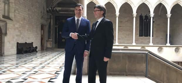 Pedro Sánchez y Carles Puigdemont