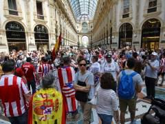 La hinchada atlética golea a la madridista en Milán