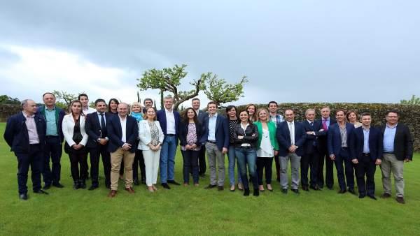 Candidatados del PP por la provincia de Pontevedra con Pablo Casado
