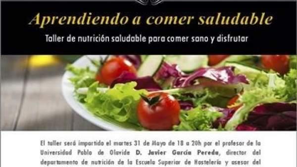 Cartel del seminario de nutrición del Instituto Nacional de Método Pilates