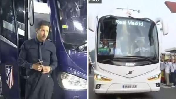 Simeone y el bus blanco