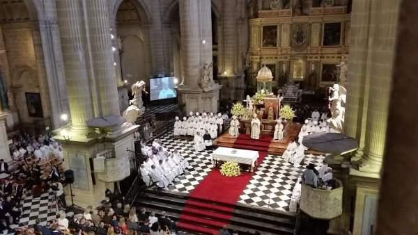 Toma de posesión del nuevo obispo de Jaén