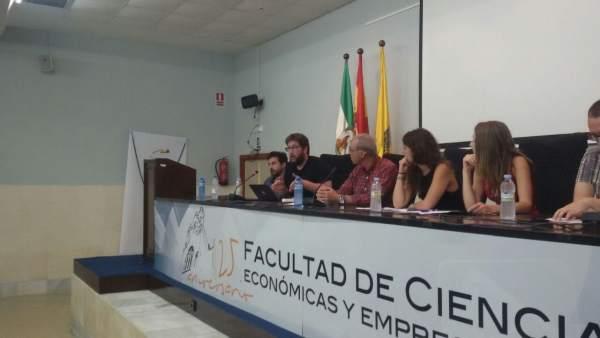 Mesa de trabajo de Podemos en Cádiz