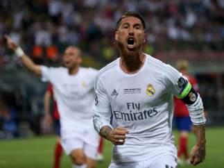 Ramos celebra su gol