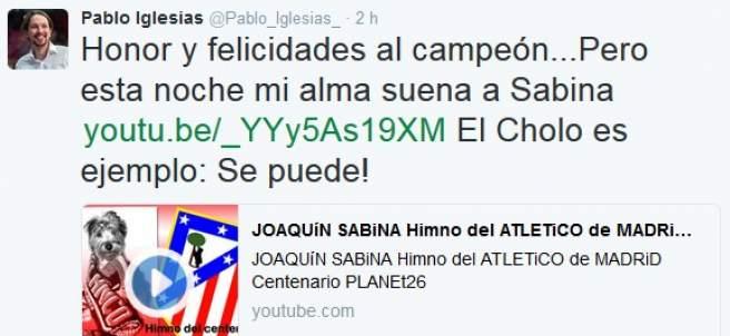 Tuit de Iglesias