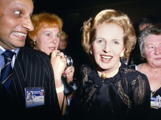 Chris Steele-Perkins - Prime Minister Margaret Thatcher during the Conservative Party Conference, 1985