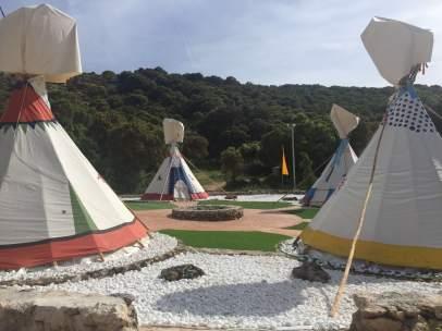 Tiendas campamento English and Adventure Ayuntamiento Málaga