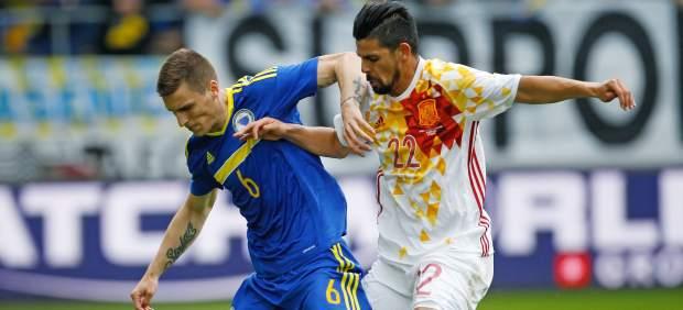 Nolito deja su sello en el primer amistoso de preparación de España antes de la Eurocopa