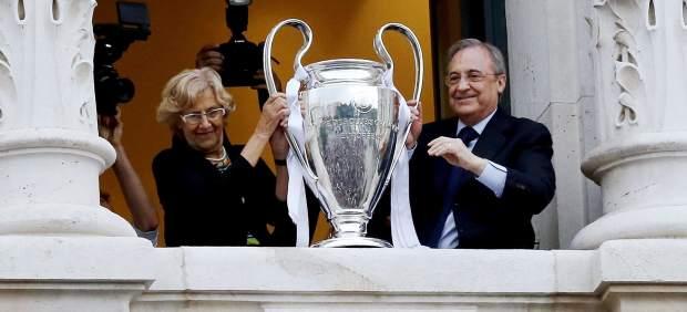 Florentino dedica la Champions a las víctimas de los ataques a peñas del Real Madrid en Irak