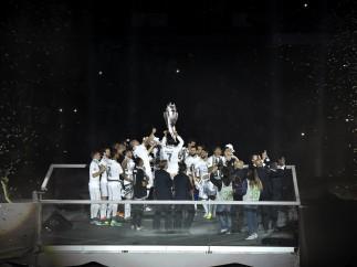 Celebración en el Bernabéu