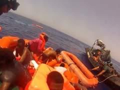La Guardia Civil rescata a 526 inmigrantes al sur de Lampedusa