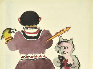 Original illustrations for Little Girls - Vera Ermolaeva, 1927