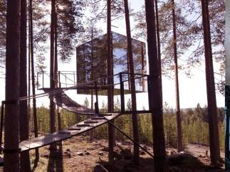 Mirrircube Tree Hotel (Harads, Suecia)