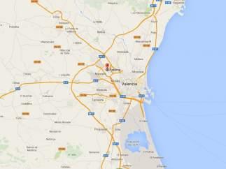 Localización de Paterna (Valencia)