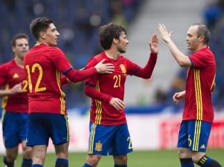 Gol de Silva con la selección española