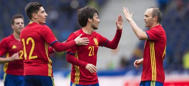 El campeón avisa de cara a la Eurocopa con una goleada