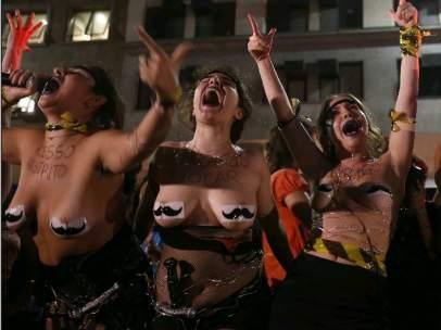 """Brasileñas """"contra la cultura de la violación"""""""