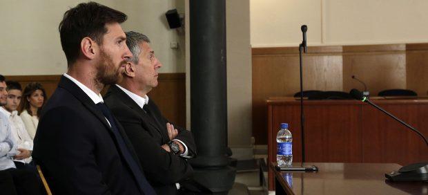 Leo Messi y su padre