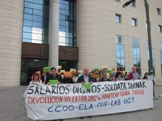Concentración de sindicatos de la Administración de Justicia.