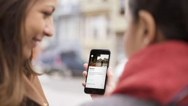 La app de Airbnb