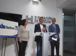 Rueda de prensa de la MAS en Huelva.