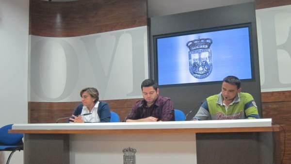 Ana Rivas, Rubén Rosón, e Iván Álvarez