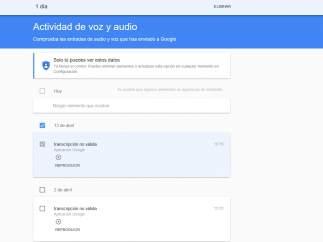 Registro de audios