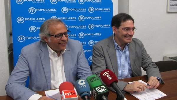 El presidente y el portavoz del Grupo Municipal Popular