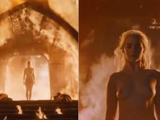 Emilia Clarke desnuda en Juego de tronos