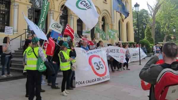 Manifestación por las 35 horas