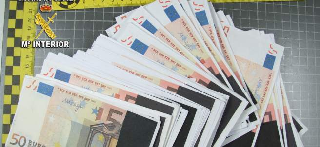 Billetes falsos en Sanxenxo
