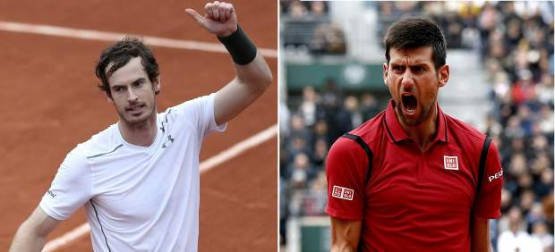 Novak Djokovic y Andy Murray se citan en la final de Roland Garros