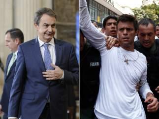 Zapatero y Leopoldo López