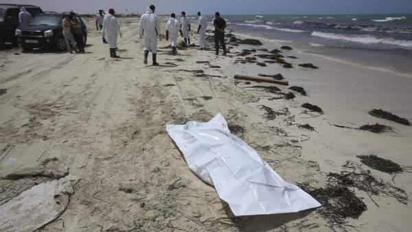 Inmigrantes fallecidos en el Mediterráneo