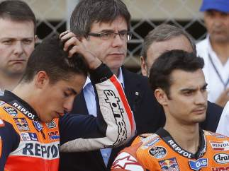 Puigdemont, Pedrosa y Márquez