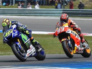 Valentino Rossi y Marc Marquez