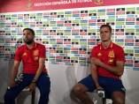 Jordi Alba y Lucas Vázquez