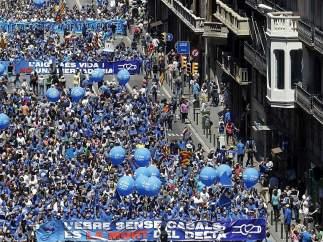 Manifestación para proteger el delta del Ebro