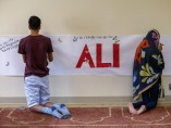 Muestras de cariño a Ali