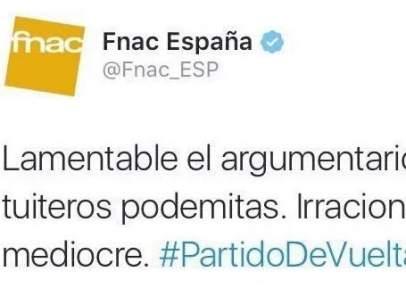Polémico tuit de Fnac España