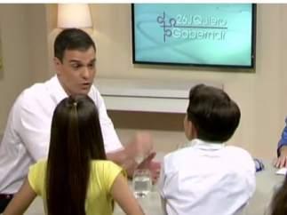 Pedro Sánchez en Telecinco