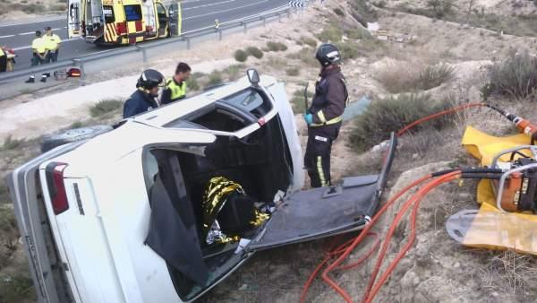 Accidente de tráfico en Ulea